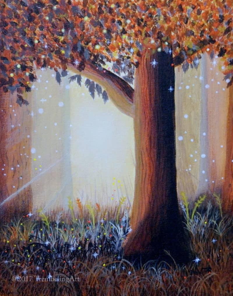 fairy tree painting
