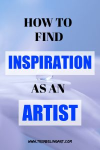 pinterest pin raindrop on a flower with text overlay how to find inspiration as an artist