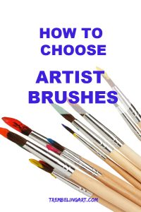 Round artist brushes with tips dipped in various color paints