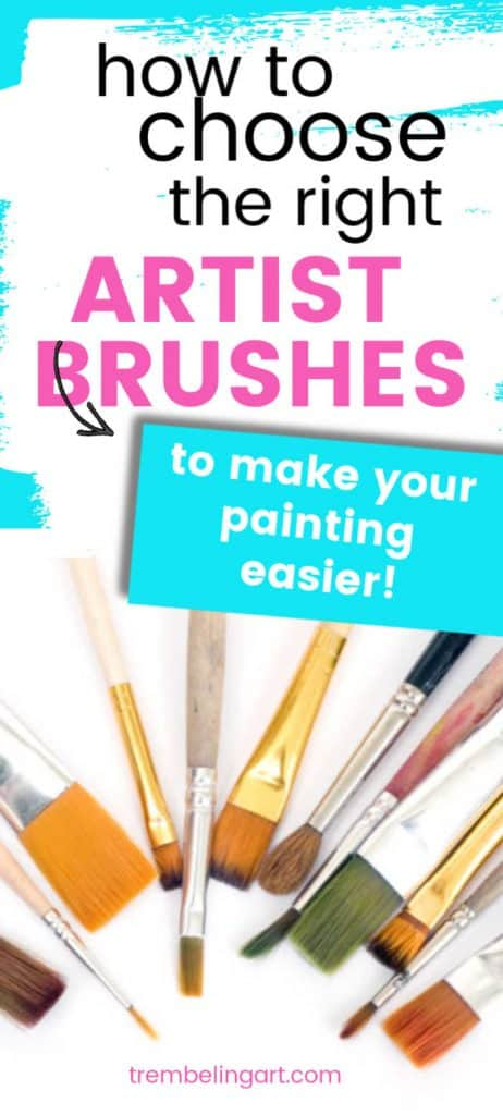 artist brushes with text overlay