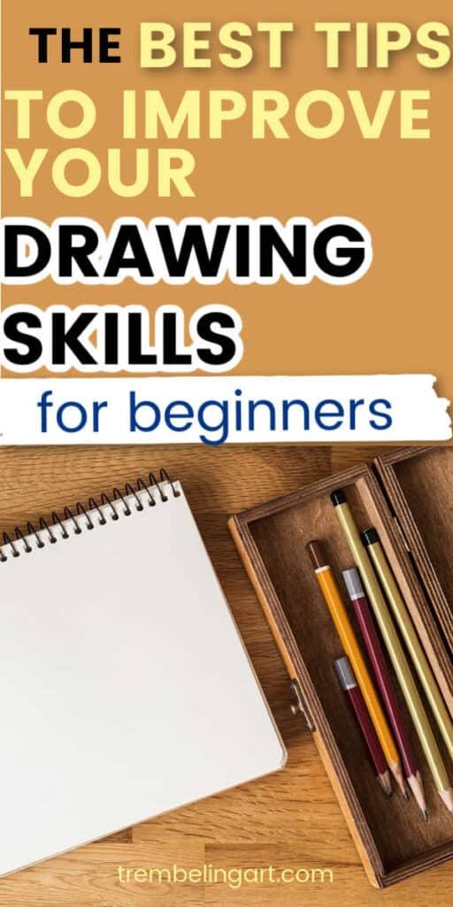 pencils and sketchbook