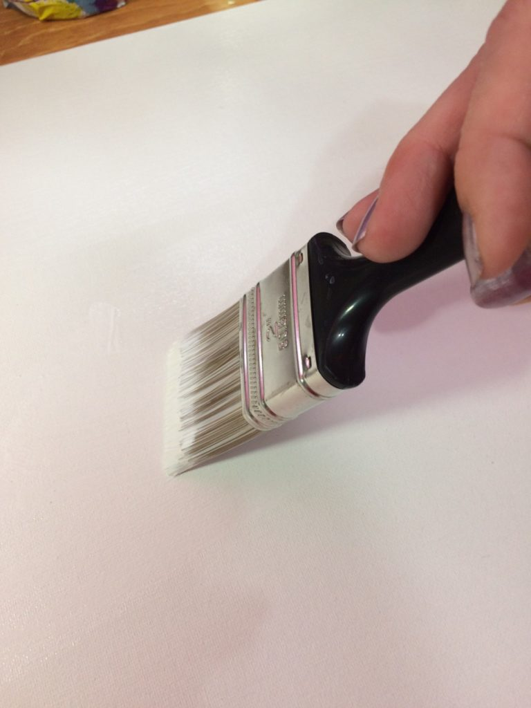 artist canvas and paint brush