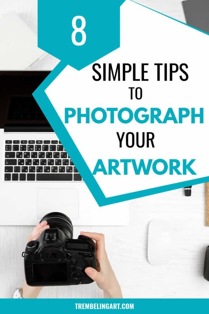 camera and computer with text overlay 8 Simple Tips to Photograph Your Art