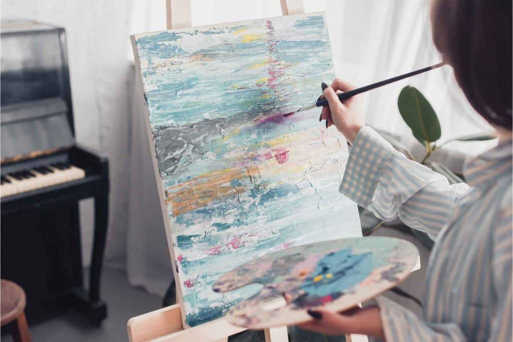 painter at easel