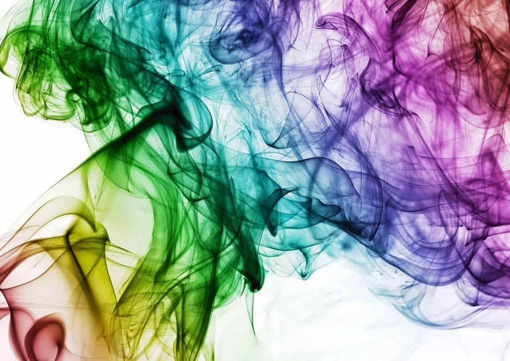 multicolored wispy smoke