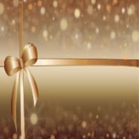 gold gift wrapped package