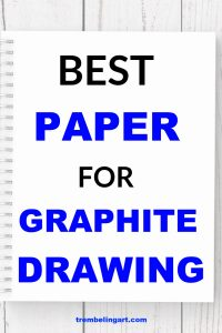 notebook with text overlay best paper for graphite drawing