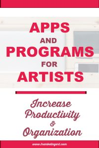 iPhone and computer with text overlay apps and programs for artists