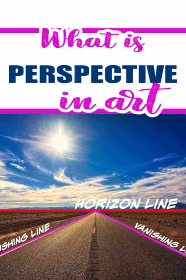 picture of a road showing horizon line and vanishing points