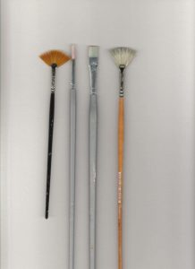 Various artist brushes