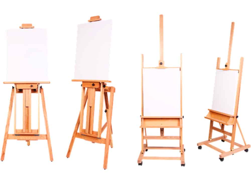 Various artist easels