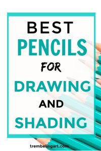 pinterest pin turquoise graphite pencils with text overlay best pencils for drawing and shading