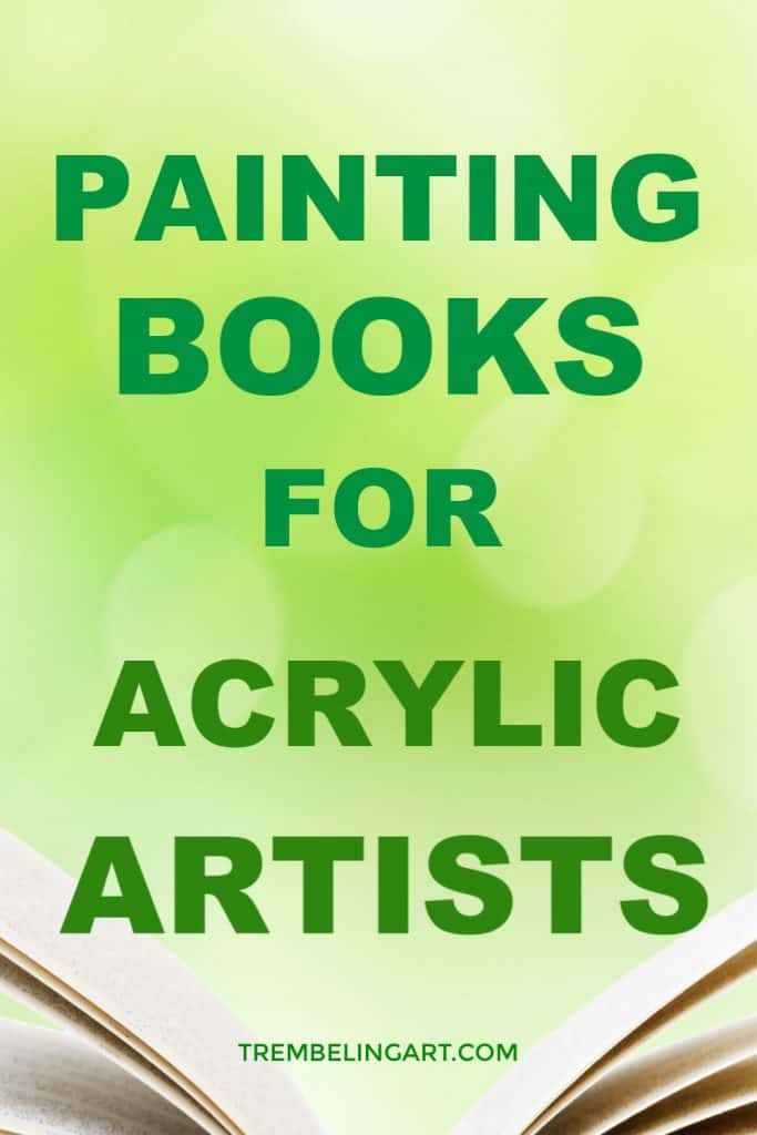 pinterest pin open book with text overlay painting books for acrylic artists