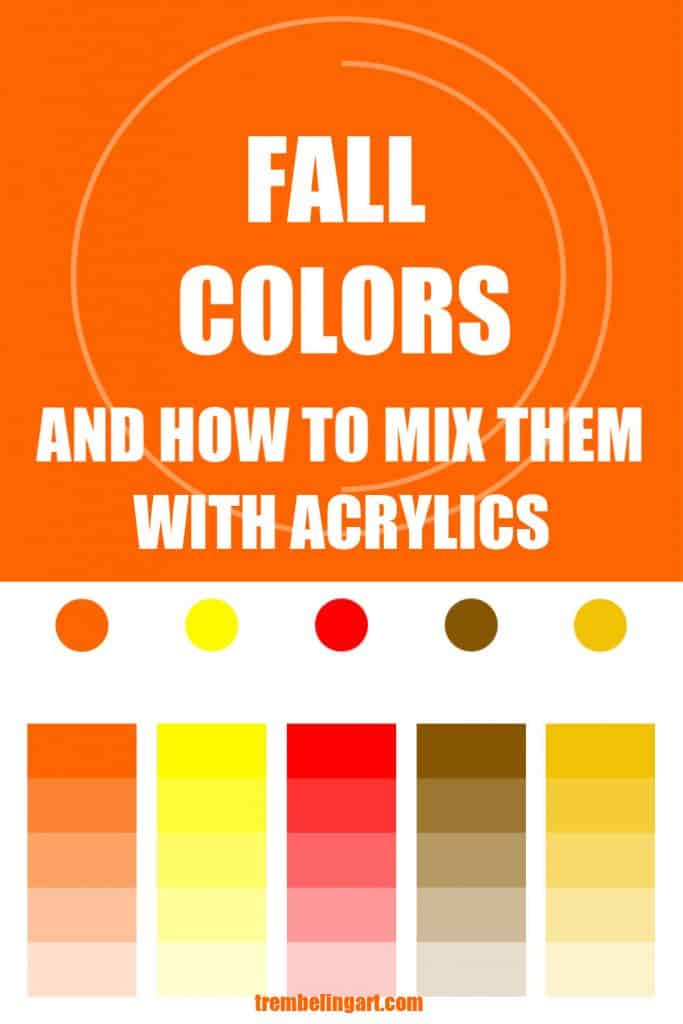 fall color mixing graphic