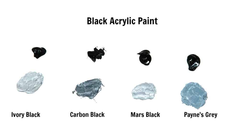 various shades of grey acrylic paint