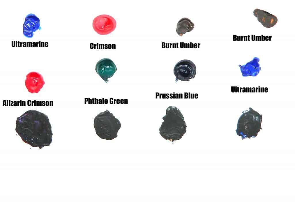 mixes of chromatic black paint