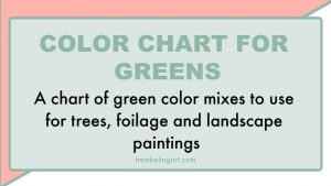Color chart for greens