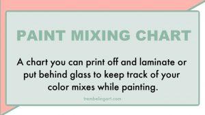 Paint mixing chart
