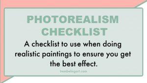Photorealism Checklist