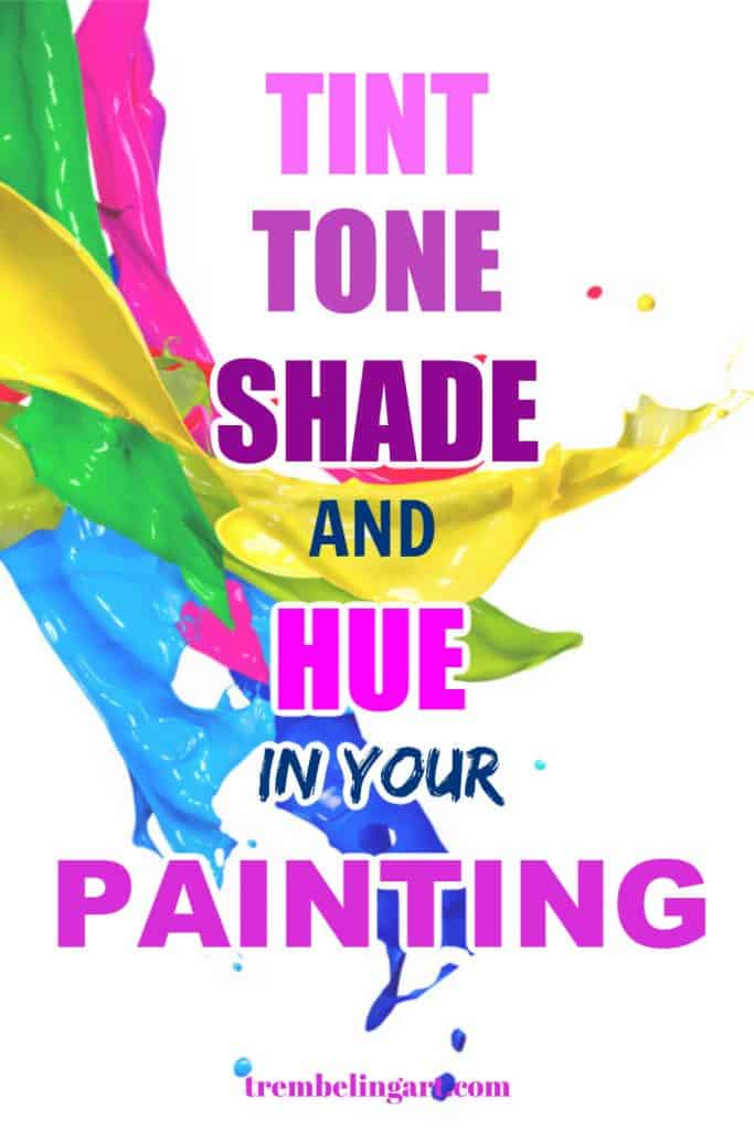 splashes of tints, tones, shades and hues of paint