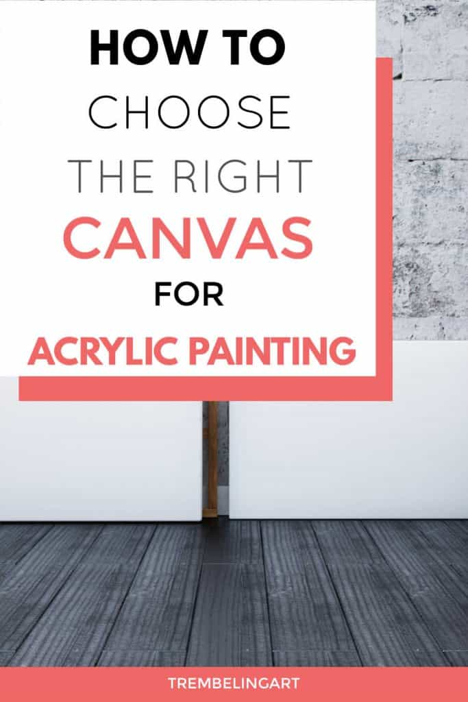 pinterest pin with artist canvases against a grey wall