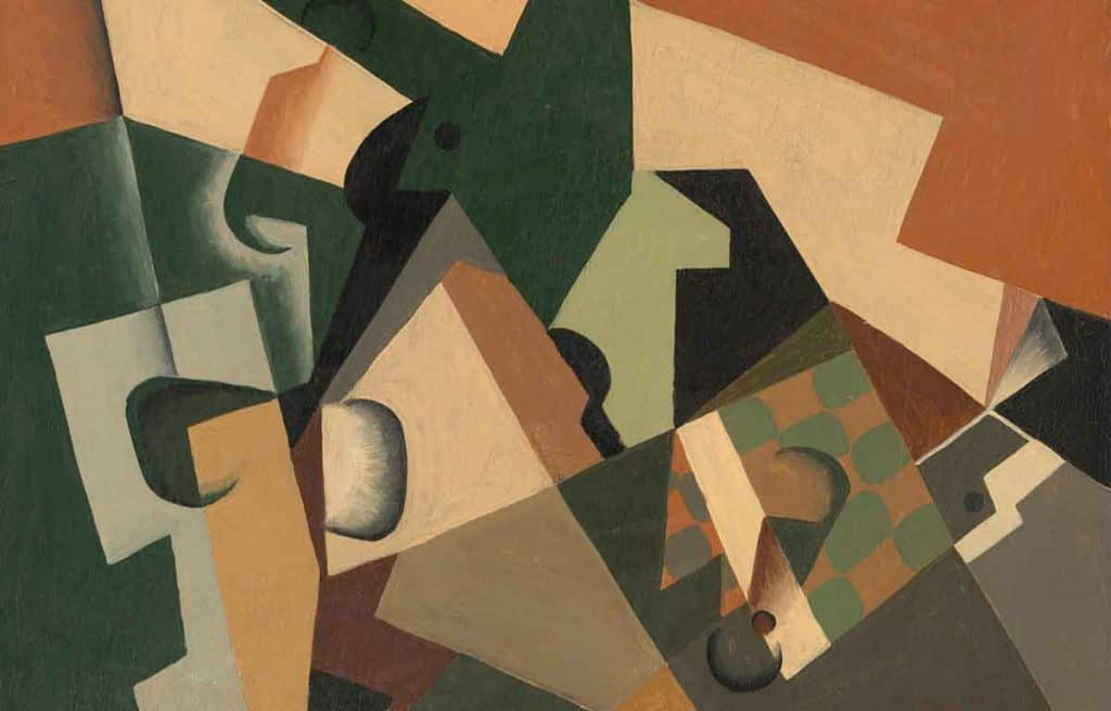 lukisan kubisme abstrak oleh Juan Gris