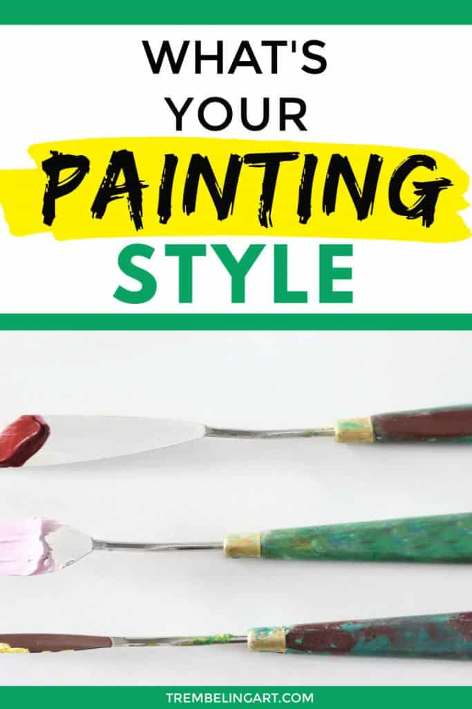 painting knives with text overlay what's your painting style