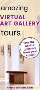 picture of an art gallery with text overlay amazing virtual art gallery tours