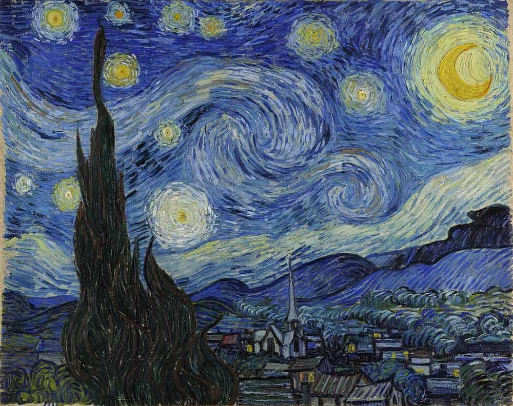 Starry Night painting by van Gogh