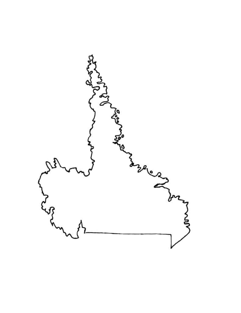 Labrador map coloring page