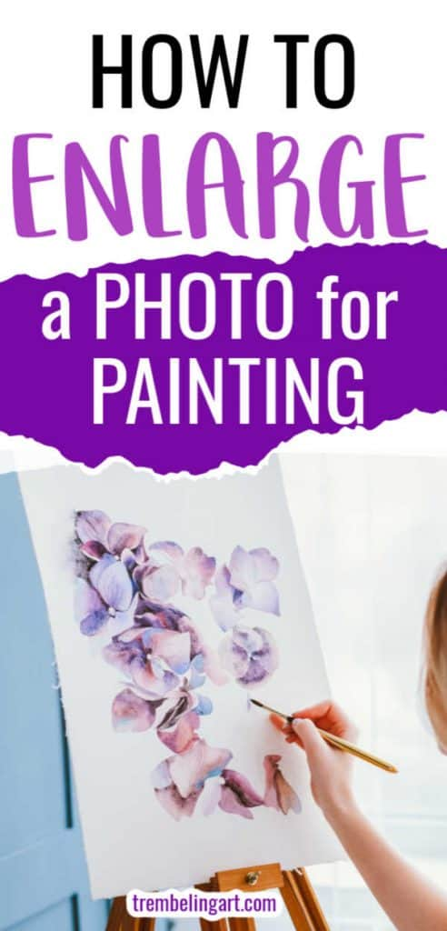 girl at easel painting flowers