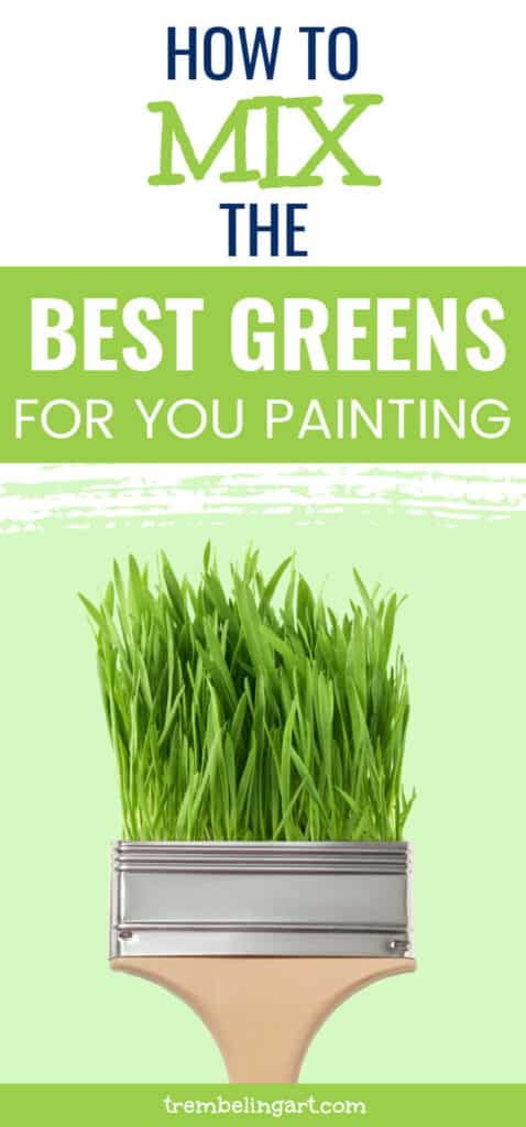 Paint brush with green grass protruding from it.