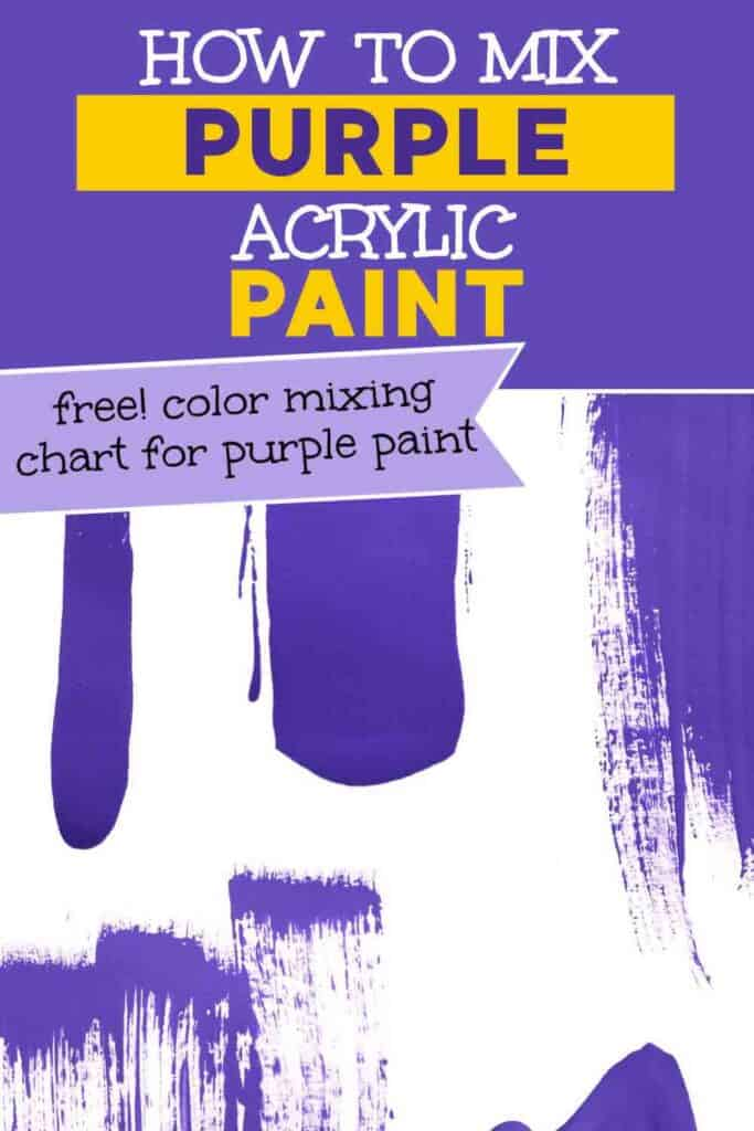 splashes of purple paint on a white background