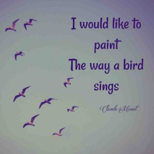 seagulls flying with art quote overlay