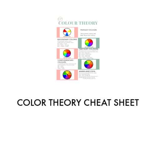 checklist containing various color wheels in pink and green squares