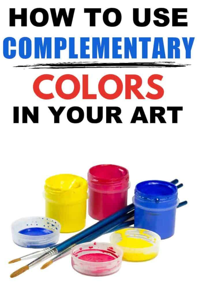 jars of red, yellow and blue paint with artist brushes